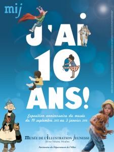 """MJI expo : """"j'ai dix ans"""" affiche 30x40cm"""