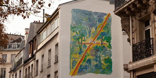 Une fresque de Sempé à Paris