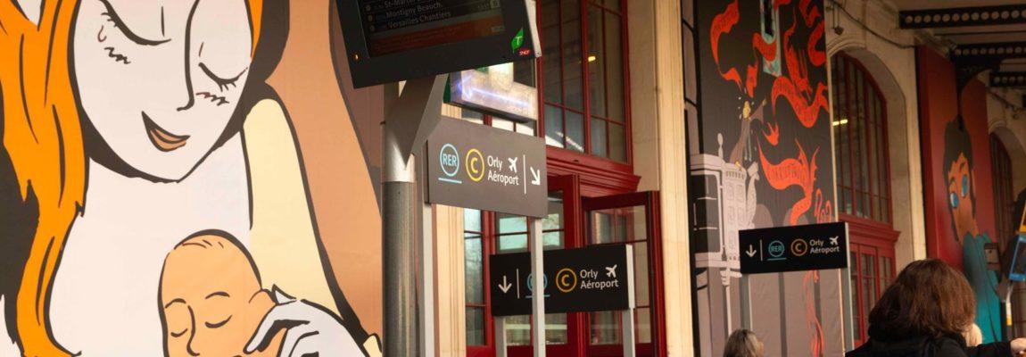 Les gares, les nouveaux espaces de la bande dessinée